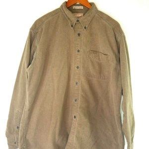 Woolrich Mens XL L/S Button Up Sportsmans Chamois
